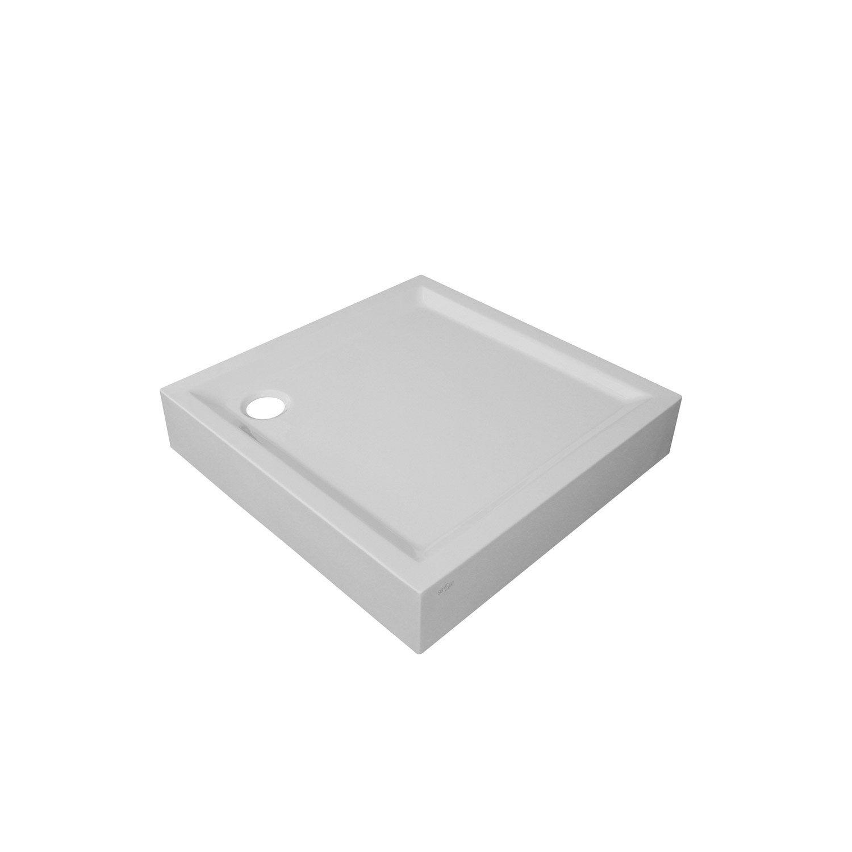 receveur de douche carr x cm acrylique blanc. Black Bedroom Furniture Sets. Home Design Ideas