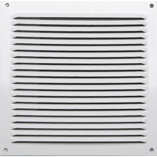 Grille d 39 a ration aluminium laqu x cm leroy - Grille de ventilation vide sanitaire ...