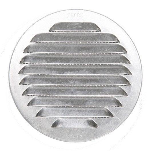 grille d 39 a ration aluminium naturel cm leroy merlin. Black Bedroom Furniture Sets. Home Design Ideas