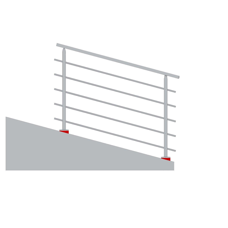Cale mise à niveau pour garde-corps TIERAL aluminium blanc H.11 x l ...