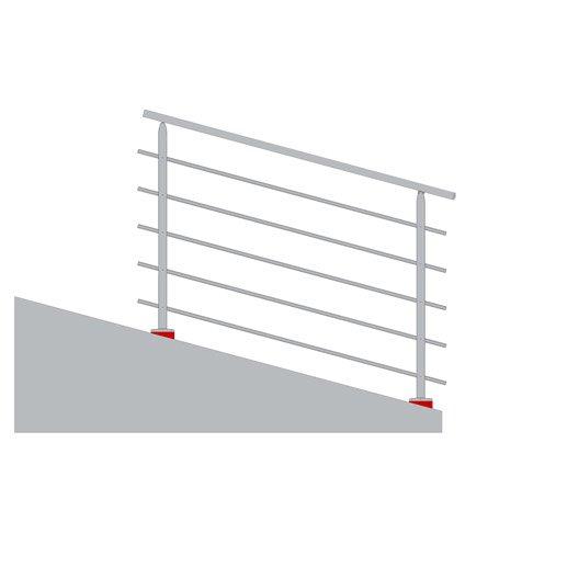 cale mise niveau pour garde corps tieral aluminium blanc x cm leroy merlin. Black Bedroom Furniture Sets. Home Design Ideas