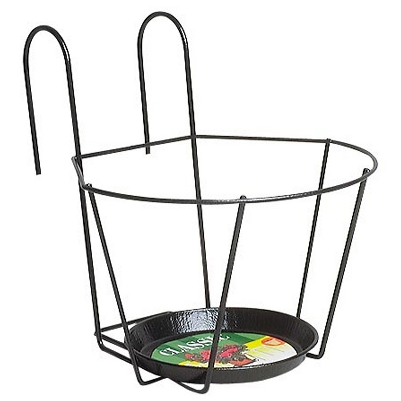support pot jardifer rond noir x cm leroy merlin. Black Bedroom Furniture Sets. Home Design Ideas