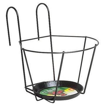 Support de pot et suspension pot de fleurs jardini re poterie d corative leroy merlin for Porte exterieur noir