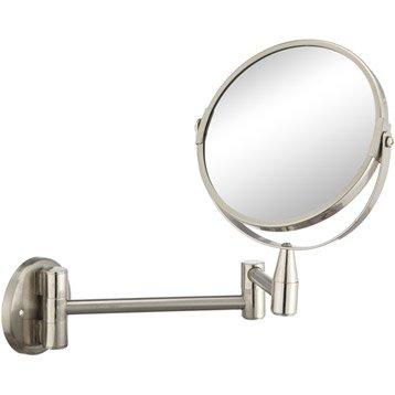 Miroir grossissant x 2.5 rond à fixer (perçage), H.15 x l.15, Beauty articulé