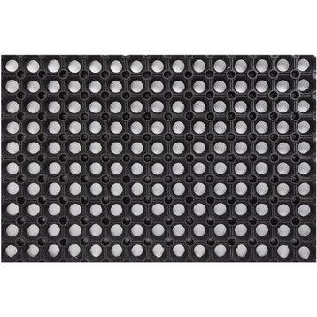 Paillasson grille caoutchouc ring noir 60 x 40cm - Leroy merlin paillasson ...