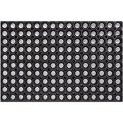 Paillasson caoutchouc noir, L.60 x l.40 cm, Ring rubber mat