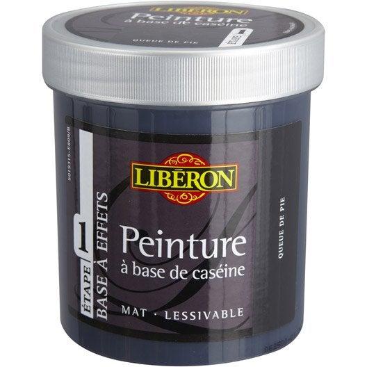 Peinture à effet Base caséine mat profond LIBERON, queue de pie, 0.5 l