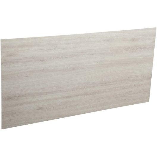 cr dence agglom r gris brillant ch ne naturel x l 65 cm ep 9 mm leroy merlin. Black Bedroom Furniture Sets. Home Design Ideas