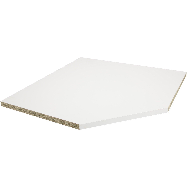 Plan D Angle Stratifi Blanc Mat L 105 X P 105 Cm Ep 38 Mm Leroy