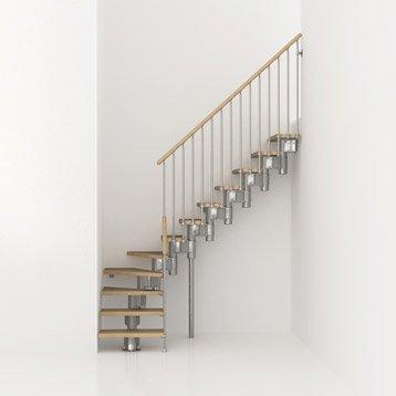 escalier en bois et m tal long pixima haut sol sol 2 m 25 3 m 03. Black Bedroom Furniture Sets. Home Design Ideas