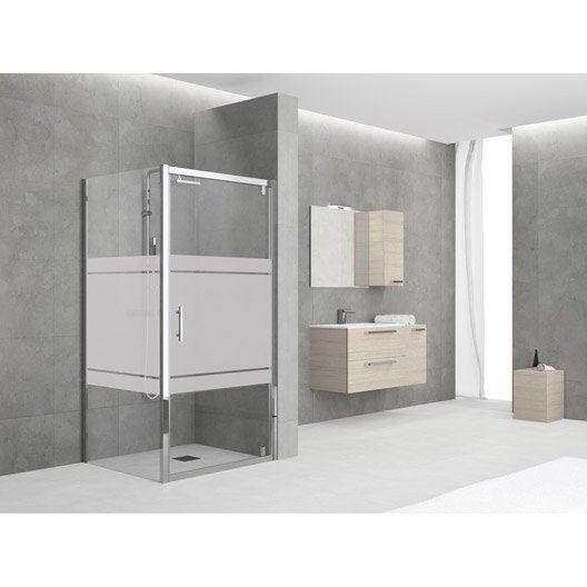 porte de douche pivotante 72 78 cm profil chrom elyt leroy merlin. Black Bedroom Furniture Sets. Home Design Ideas