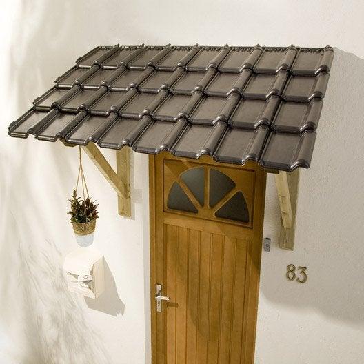 auvent marquise porte d 39 entr e au meilleur prix leroy. Black Bedroom Furniture Sets. Home Design Ideas