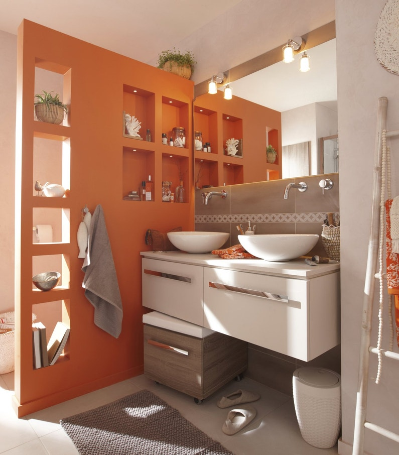 cloison de s paration orange salle de bains leroy merlin. Black Bedroom Furniture Sets. Home Design Ideas