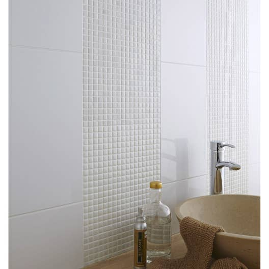 Salle De Bain Mur Blanc ~ mosa que mur pop blanc leroy merlin