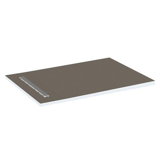 receveur de douche carreler rectangulaire x cm lux elements leroy merlin. Black Bedroom Furniture Sets. Home Design Ideas