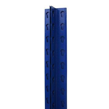 Montant T pour système modulaire versatile AR SISTEMAS, l.7 x H.200 x P.4 cm