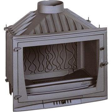 Foyer à bois façade droite INVICTA 6769-00 10 kW
