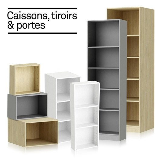 Am nagement spaceo home leroy merlin - Caisson rangement dressing ...