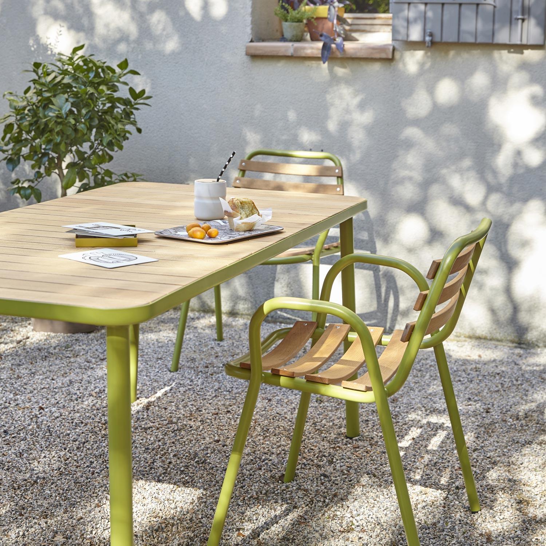 Table De Jardin 2 Personnes. Salon De Jardin Chelsea Rsine Tresse ...