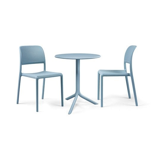 Salon de jardin bora nardi bleu leroy merlin for Salon jardin bleu