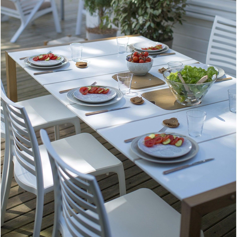 Salon de jardin Sunday GROSFILLEX blanc, 4 personnes | Leroy Merlin