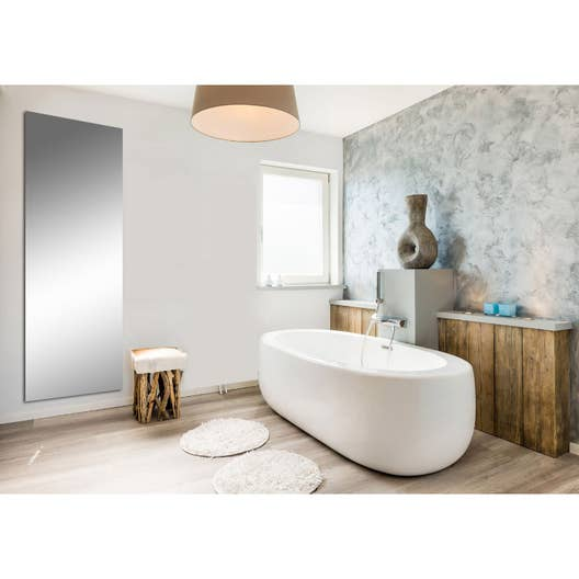 radiateur lectrique rayonnement decowatt miroir 1200 w. Black Bedroom Furniture Sets. Home Design Ideas