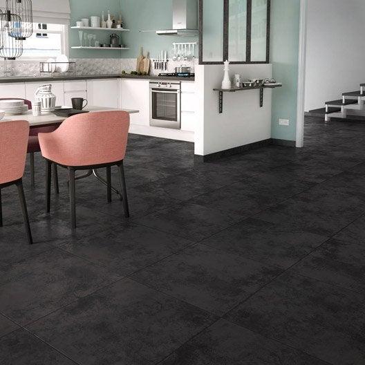 carrelage sol anthracite effet b ton toron x cm leroy merlin. Black Bedroom Furniture Sets. Home Design Ideas