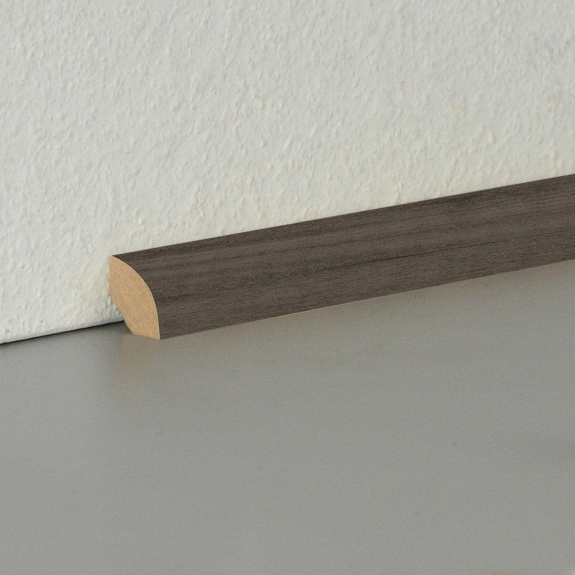 Poser Un Quart De Rond Carrelage quart-de-rond parquet et sol stratifié décor n°140, l.220 cm x h.14 x ep.14  mm