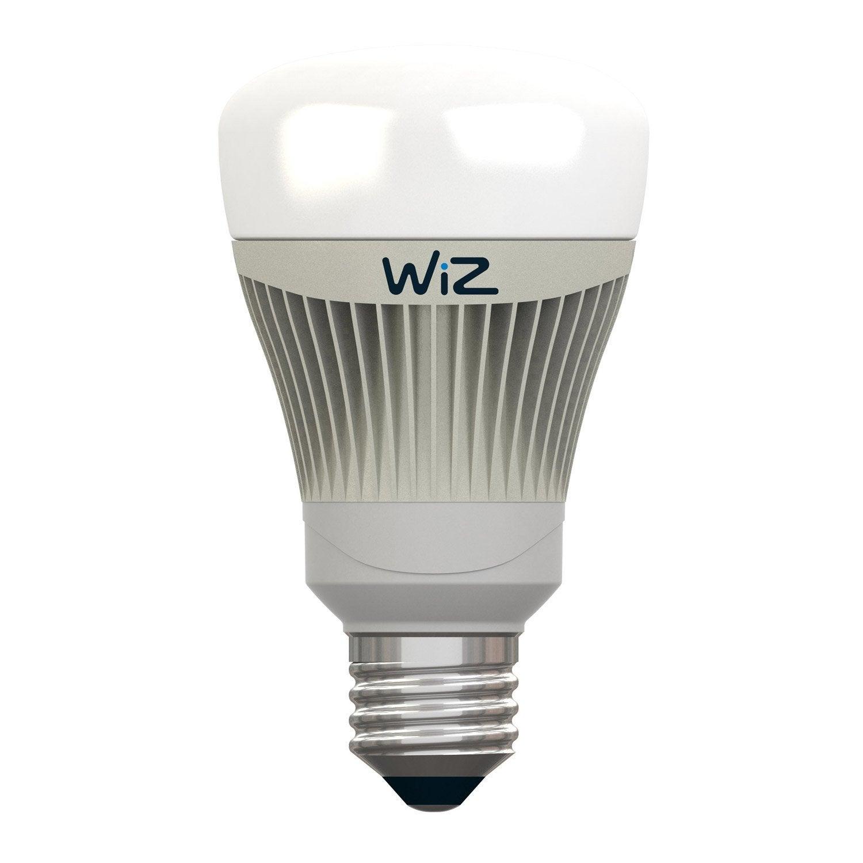 lot de 2 ampoules connect es wiz lumi re blanche couleurs e27 806 lumens luminaire connect. Black Bedroom Furniture Sets. Home Design Ideas