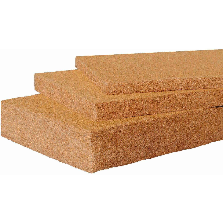 3 Panneaux Fibre De Bois 135x0575m Ep100mm R26