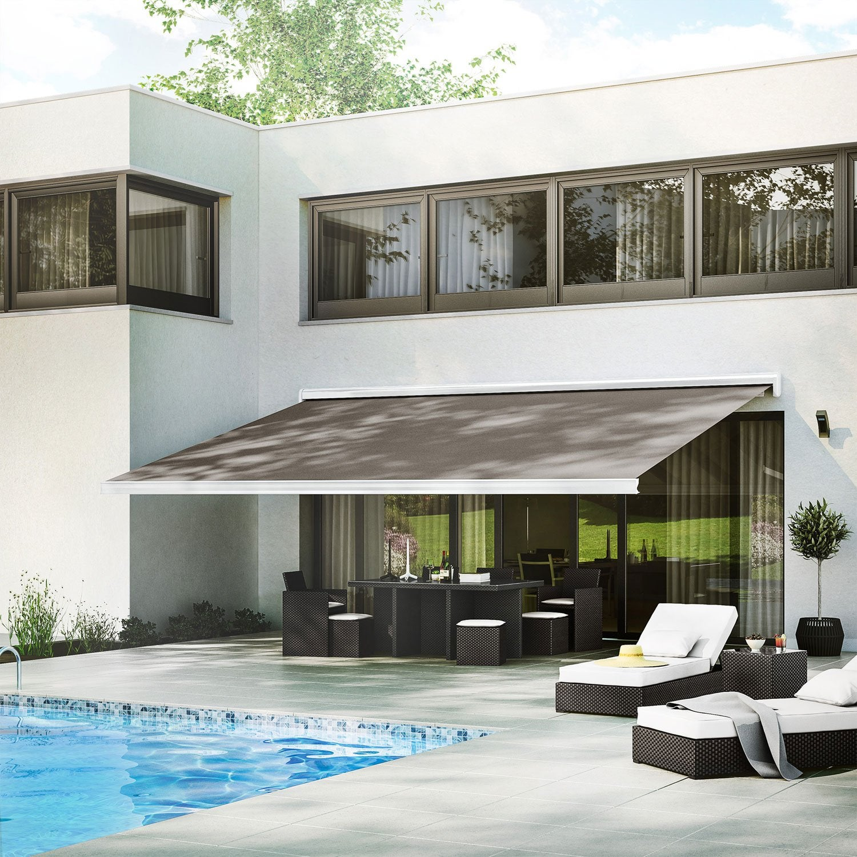 store banne motoris gold coffre int gral 6 x 3 5 m t130. Black Bedroom Furniture Sets. Home Design Ideas
