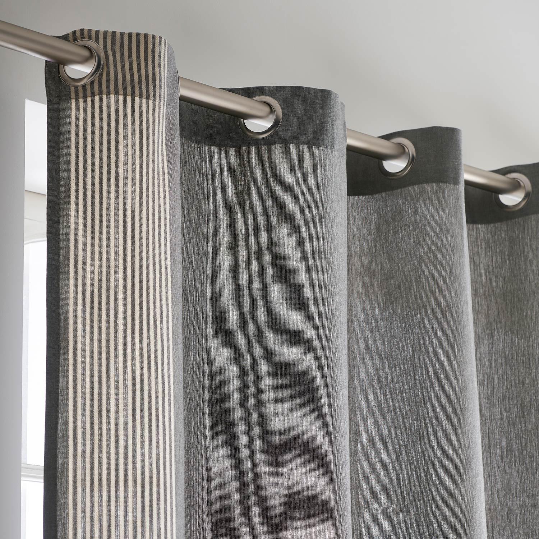 Rideau tamisant, Yobi, gris naturel, l.140 x H.260 cm INSPIRE ... 9cb1452776a7