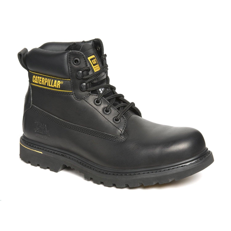 Chaussures de sécurité hautes CATERPILLAR Holton s3 bk, coloris noir  T41