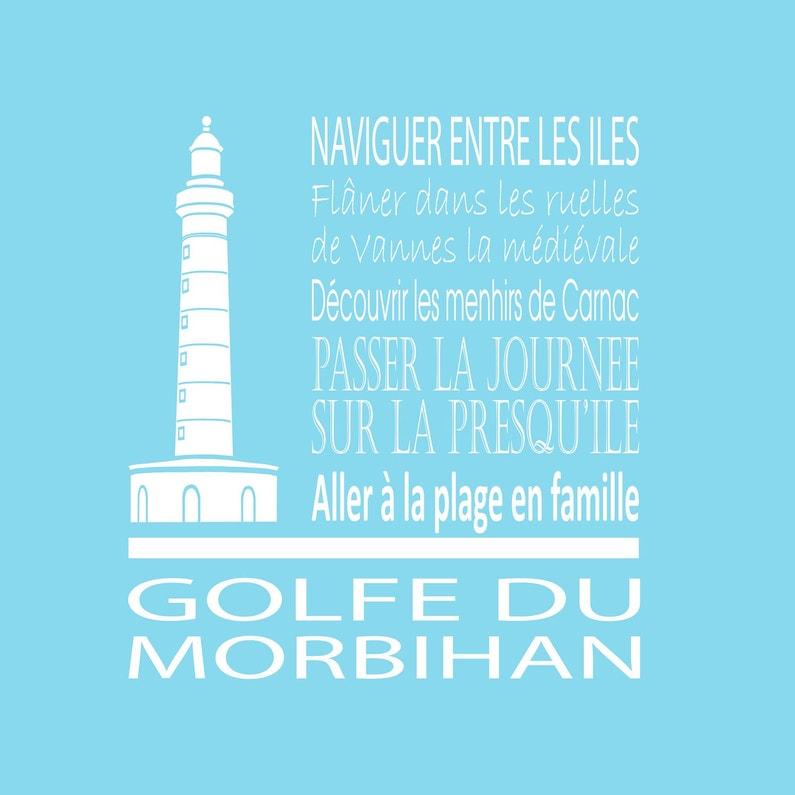 Toile Imprimée Golfe Morbihan Bleu Clair Artis L30 X H30 Cm