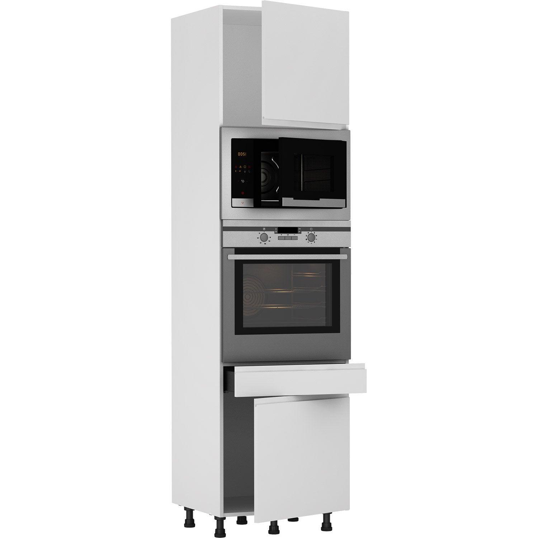 Meuble Colonne Cuisine Leroy Merlin colonne four de cuisine tokyo blanc, 2 portes et 1 tiroir h.215 x l.60 x  p.58 cm