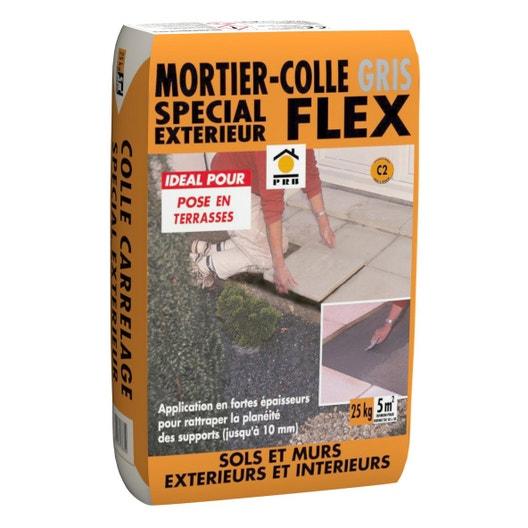 Mortier colle ext rieur gris prb 25kg leroy merlin - Mortier joint carrelage ...