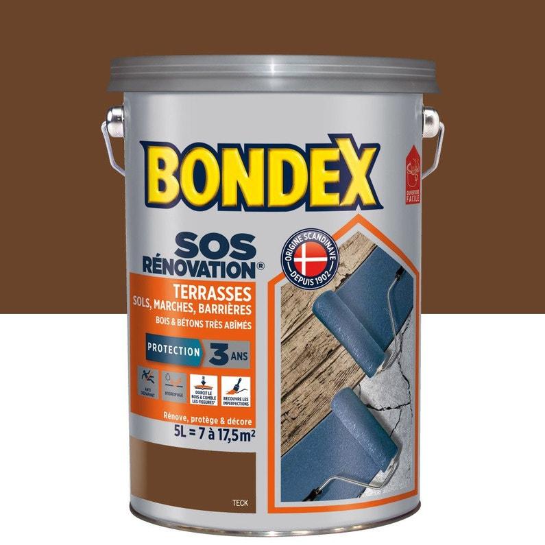 Peinture Sol Extérieur Sos Renovation Terrasse Teck 5 L Bondex