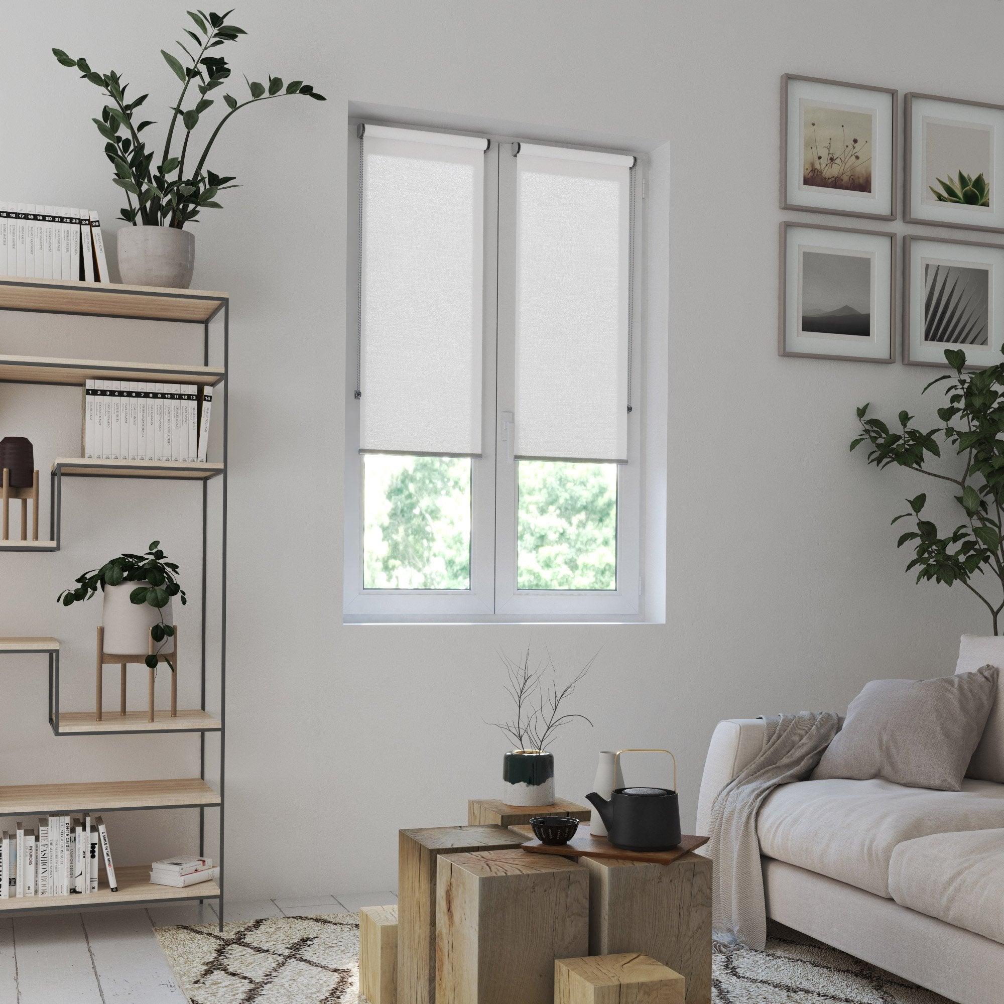 Store enrouleur tamisant, blanc, l.45 x H.160 cm