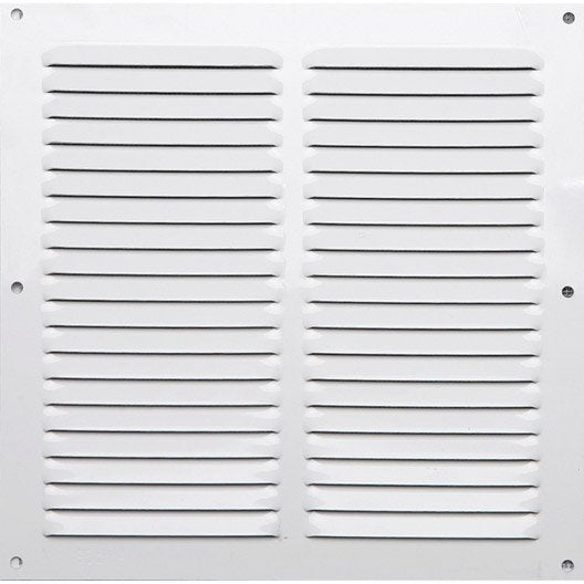Grille d 39 a ration aluminium laqu x cm leroy for Installer grille aeration fenetre