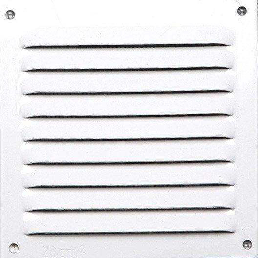 Grille d 39 a ration visser aluminium laqu 10x10cm - Grille de ventilation exterieure aluminium ...