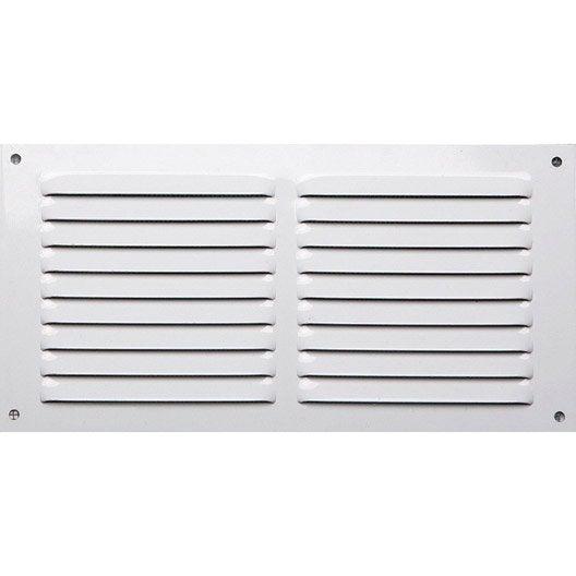 grille d'aération aluminium laqué, l.15 x l.30 cm | leroy merlin