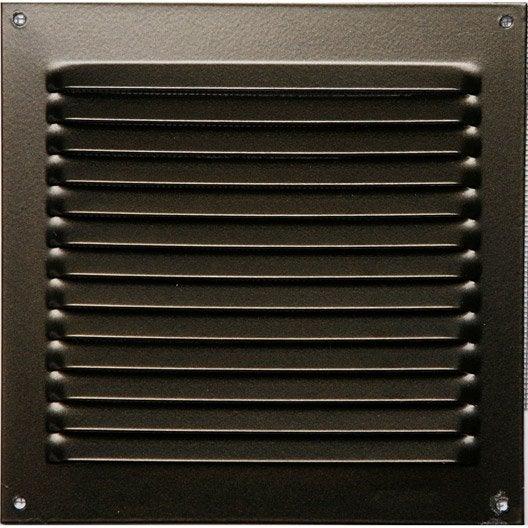 grille d 39 a ration visser aluminium laqu 15x15cm leroy merlin. Black Bedroom Furniture Sets. Home Design Ideas