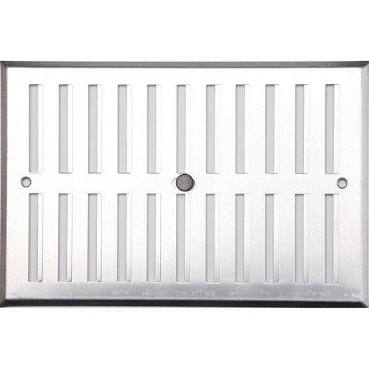 grille d 39 a ration visser aluminium anodis 17x25cm leroy merlin. Black Bedroom Furniture Sets. Home Design Ideas