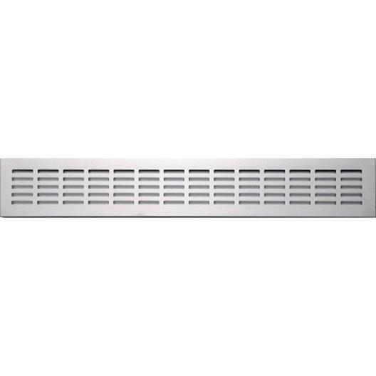 grille d 39 a ration encastrer aluminium anodis 8x50cm leroy merlin. Black Bedroom Furniture Sets. Home Design Ideas