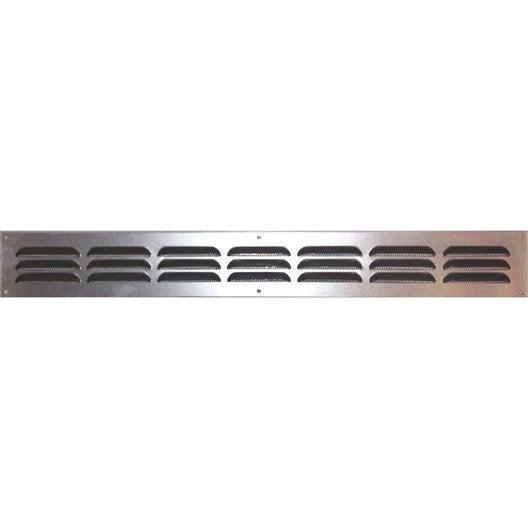 grille d 39 a ration aluminium anodis l 5 x cm leroy merlin. Black Bedroom Furniture Sets. Home Design Ideas
