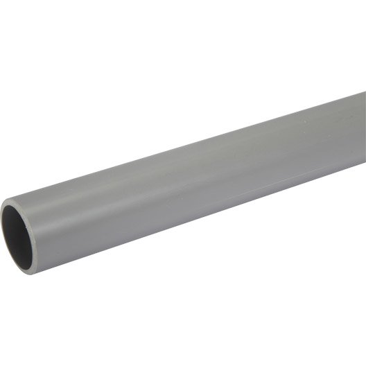 Tube d'évacuation PVC, Diam.40 mm, L.2 m