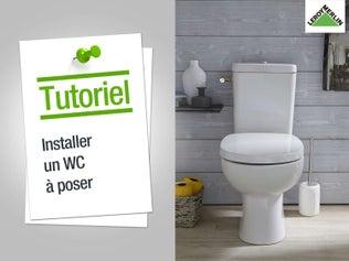 Installer un WC à poser