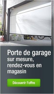 Porte de garage porte de garage sur mesure porte sectionnelle leroy merlin Porte garage sur mesure