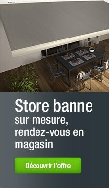 accessoires store banne store banne et store fen tre leroy merlin. Black Bedroom Furniture Sets. Home Design Ideas