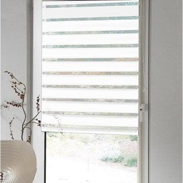 store enrouleur jour nuit polyester inspire blanc blanc 77x190 cm. Black Bedroom Furniture Sets. Home Design Ideas